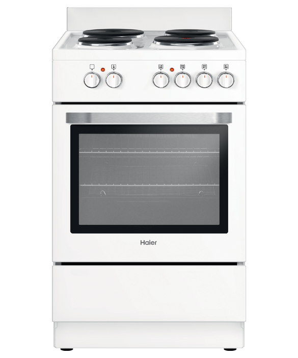 Freestanding Cooker, Electric, 54cm, 4 Elements, Solid Hotplate, pdp