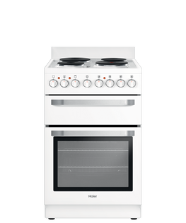 Freestanding Cooker, Electric, 54cm, 4 Elements, Solid Hotplate